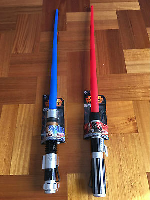 1PC Hasbro Star Wars Extendable Lightsaber Darth Vader/Obi-Wan Kenobi/Anakin Toy