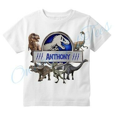 Jurassic World Dinosaurs Custom T-shirt, PERSONALIZE NAME, Birthday, gift,