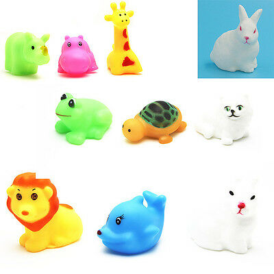 5pcs Cute Animal Child Kids Bath Pool Tub Float Squeeze Sound Pop Play Water Toy