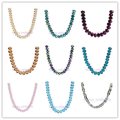Hot! 3x4mm 5040# Faceted Loose Rondelle Crystal Glass Beads Spacer 71Colors