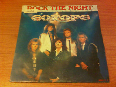 """7"""" 45 Giri Europe Rock The Night Epic  Epc 650171 7 Vg/ex Holland Ps 1985  Dst"""