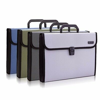 12 Pockets A4 Office Expanding File Folder Organizer Accordion Buckle Closure #Y