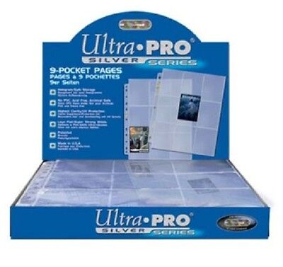 Ultra Pro Silver A4 9-Pocket Pages For Trading Card Albums - Yugioh, Pokemon,Mtg