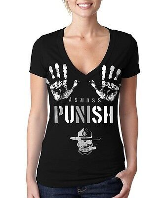 PUSH T-SHIRT - Grunt Style Women s Black V-Neck Tee Shirt -  23.95 ... 40a0dfe8d03