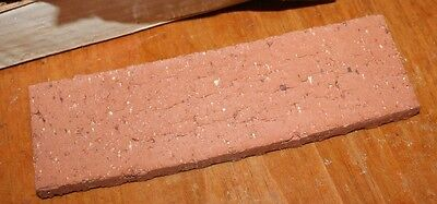 "1 pc 1/2"" Kiln Fired Clay REAL BRICK Wall Tile  ANTIQUE RED 7 5/8 x 2 1/4"""