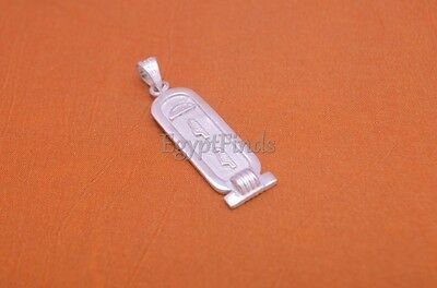 Egyptian Handmade Personalized Sterling Silver Cartouche With Glyphs On The Back
