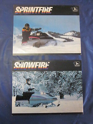 Vintage John Deere Snowfire Sprintfire Dealership Sales Brochures Flyers