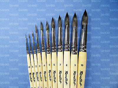 PURE SQUIRREL PROFESSIONAL Short Handle Round Brushes 1410 Roubloff