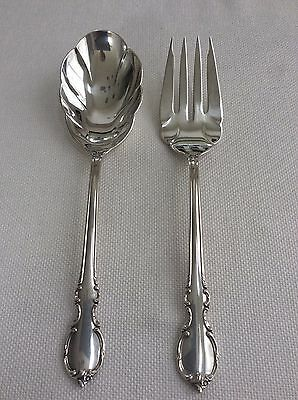 Rogers Bros Reflection Casserole Spoon And Serving Fork Lot Of 2