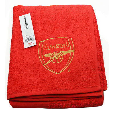 Arsenal Fc Embroidered Red Towel Bath Beach Gym Swim 100% Cotton New Xmas Gift