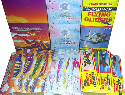 Flying Glider Dinosaur Unicorn / Fairy / WWII Planes Ideal Party Bag Fillers