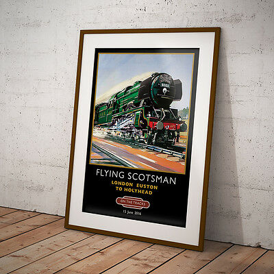 SCOTSMAN ON THE TRACKS - The Flying Scotsman Posters  A4, A3, A2 - BP