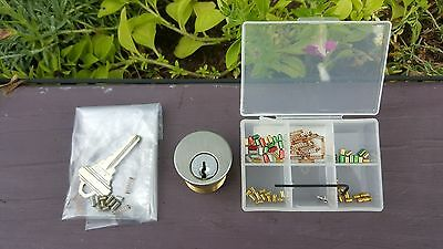 "REDUCED! Schlage 6 pin ""Build-A-Lock"" practice lock - with pinning kit"