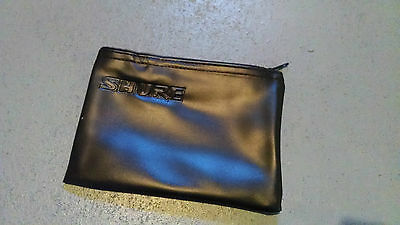 Large Black Shure Mic Vinyl Leatherette Storage Zipper Bag Pouch for 52A 55SH