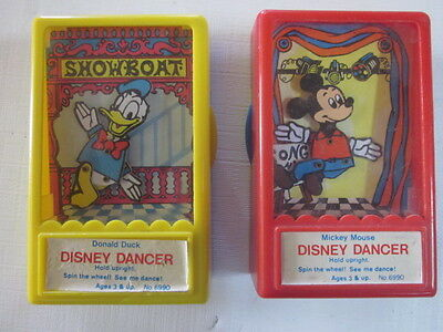 Disney Dancers Mickey Mouse Donald Duck 1975 Toy Puppet Box Shows