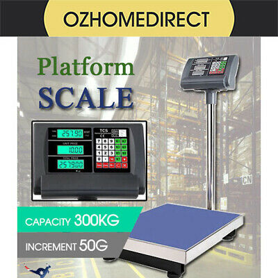 Electronic Computing Digital Platform Scales 300kg Postal Shop Scale Weight AU