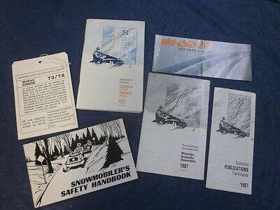 1987 Ski Doo Tundra Citation LS Owner's Manual & Brochure Safety Book and more