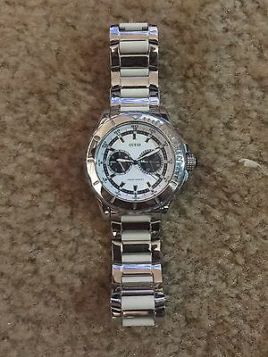 Guess Watch - Excellent Condition!! Silver and White Band