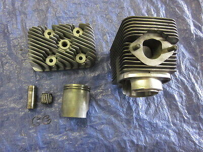 Vintage Sachs SA2-290 Snowmobile Engine Cylinder Piston & Head Alouette & others