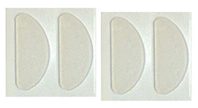 Adhesive Stick-on Silicone Nose Pads for Glasses - 19mm Clear (4-56 Count)