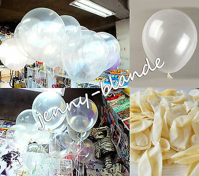10/20/50/100 Clear Pearl Transparent Latex Balloons Birthday Wedding Party Decor