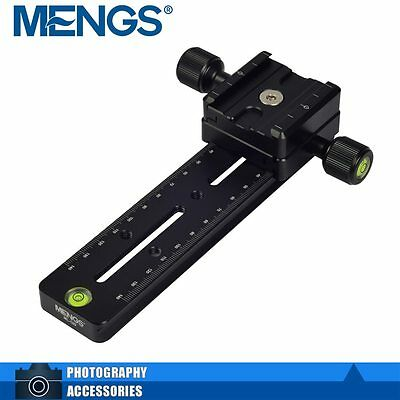 """MENGS  DB-180 1/4"""" vis panoramique Caméra Plate Quick Release + clamp"""