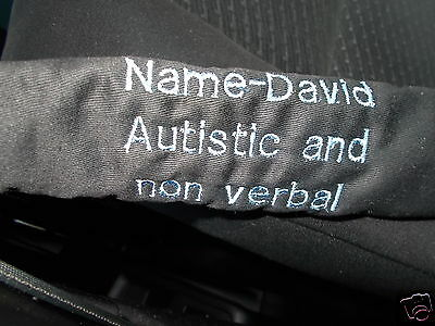 Special Needs Embroidered Seat Belt Cover - One Only - Handmade