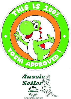 Yoshi Approved sticker 145 x 145 mm