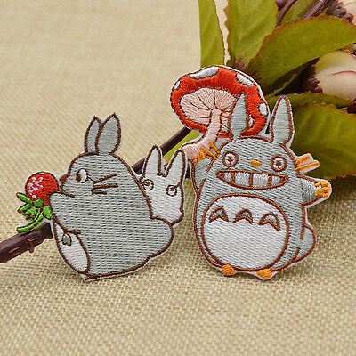 Ainme Totoro Sewing on Patch Embroidered Iron Applique DIY Clothing Bag Hat Cute