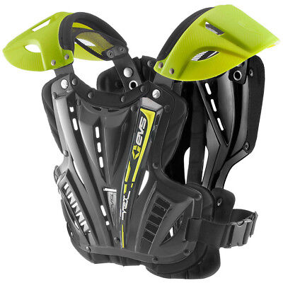 EVS NEW Mx VEX Black Hi Viz Motocross Youth Chest Protector Kids Body Armour