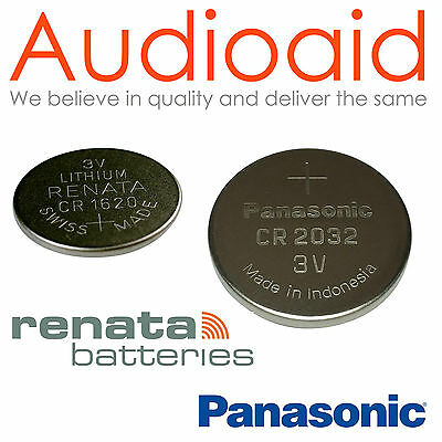 Panasonic, Renata Lithium Coin Batteries - All Sizes