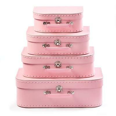 NEW Suitcase Set of 4 - Pink - Room Decor - Toy Storage Carry Case