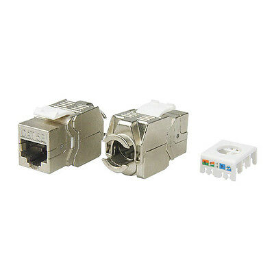 4pcs//pack 10GB CAT.6A Shielded Keystone Jack Module Tool free connection!