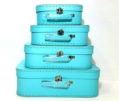 NEW Suitcase Set of 4 - MINT - Room Decor - Toy Storage Carry Case