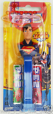 PEZ Candy Dispenser - DC Comics Justice League SUPERMAN - 17g Candy BNIP