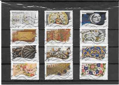 France 2009.Metiers D'art.serie Complete De 12 Timbres Aa Obliteres