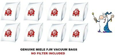 Genuine MIELE FJM HyClean Vacuum Cleaner DUST BAG x 8Pk NO FILTER INCLUDED