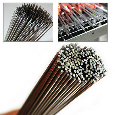 """Stainless Steel Skewers BBQ Grill Stick Needle Kebab Camping Picnic 13.78"""""""