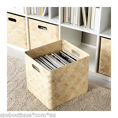 ikea knagglig pine wooden box storage basket fit ivar shelving unit picclick uk. Black Bedroom Furniture Sets. Home Design Ideas