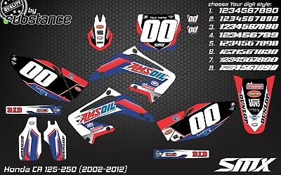 CR125 CR 250 02-12 motocross graphics kit MX decals 2010 2011 2008 moto stickers
