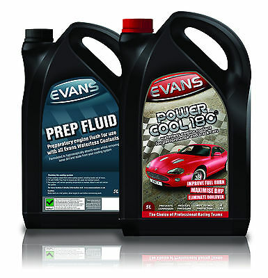 EVANS WATERLESS COOLANT POWER COOL 180 & PREP FLUID TWIN PACK - Escort Cosworth