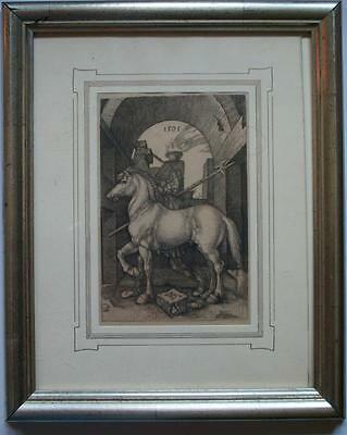 da antica incisione bulino Albrecht Dürer The Small Horse Cavallo piccolo 1505