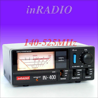 INRADIO IN-400 SWR & POWER METER VHF UHF 140-525 MHz LIVRAISON RAPIDE IN400