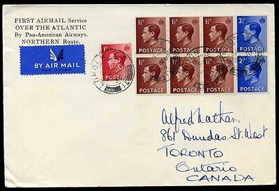 1939 KEVIII First Airmail North Atlantic Pan-Am England to Canada