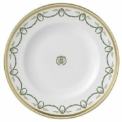 """New Royal Crown Derby 2nd Quality Titanic 10"""" Dinner Plate with Monogram"""