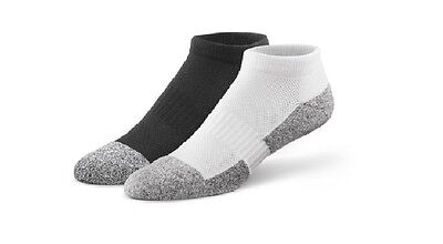 Dr. Comfort Diabetic Bamboo Charcoal Fiber Socks -No Show -Package of 3 pairs