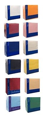 3 Ply Paper Napkins (40cm x 40cm) Square Party Serviettes Tableware All Colours