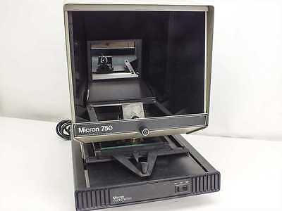 New Micron 750, 120V Microfiche Reader With Superb Optical Extended Lamp Life