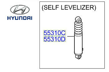 Genuine Hyundai Santa Fe Self Levelling Shock Absorbers Rear Left - 553202B100