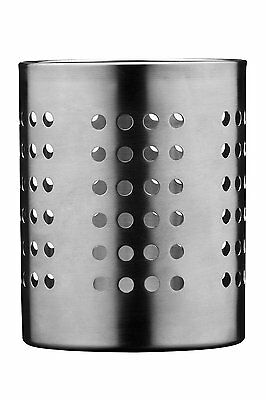Cutlery Knives Forks Spoons Caddy Holder Container In Brushed Stainless Steel